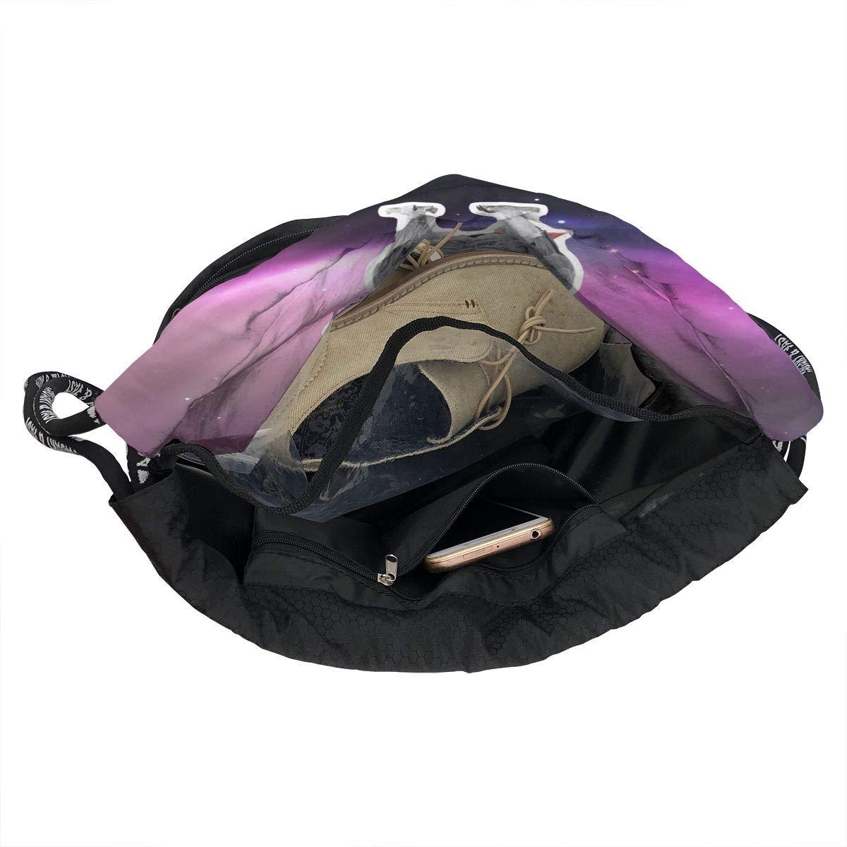 HUOPR5Q Parrot Drawstring Backpack Sport Gym Sack Shoulder Bulk Bag Dance Bag for School Travel