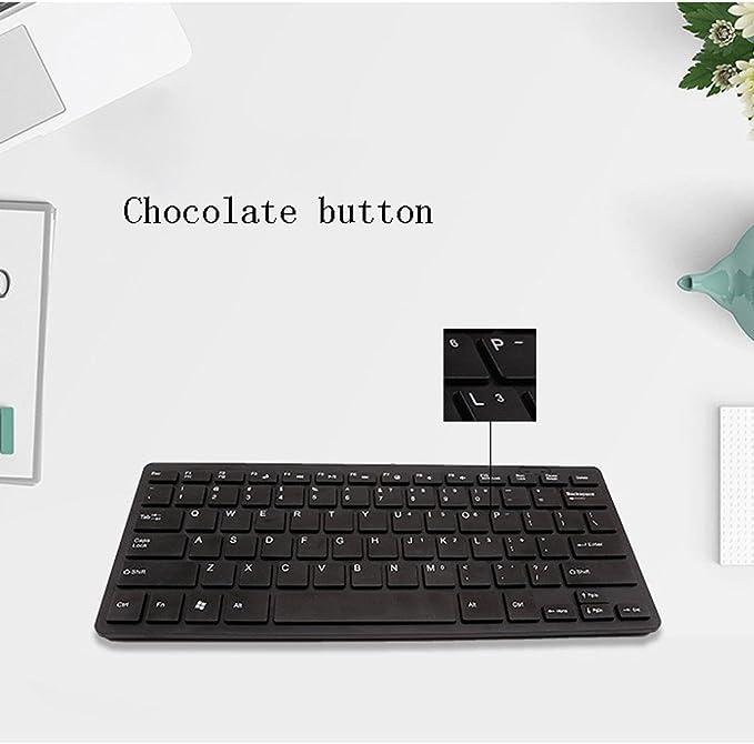 LL-keyboard Teclado USB Ultrafino con silenciador de ...