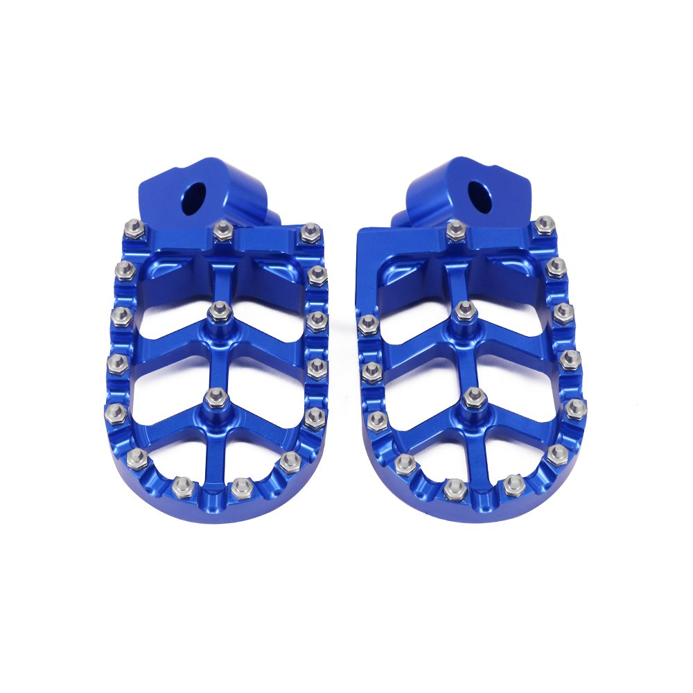 AnXin Foot Pegs Footpegs Footrests Foot Pedals Rests CNC MX For Husqvarna CR WR SMS WRE TC TE TXC TXCI SM SMR 50 65 125 150 250 300 310 360 400 449 450 510 511 570 510 Motorcycle Red