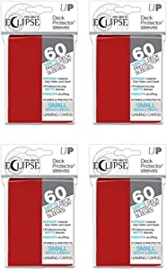 4-Pack Ultra Pro Pro-Matte Eclipse Deck Protector Sleeves (240 Total Sleeves) Apple Red