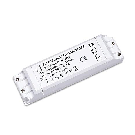 Driver 50W Transformador Yafido Voltaje 12V LED Bombillas Fuente Alimentación Trafo Bajo de GU5 3 17A LED para G4 MR16 LED 4 MR11 Tira a 220V vmN8wn0