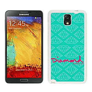 Genuine Diamond Supply White Samsung Galaxy Note 3 Screen Cellphone Case Lovely and Newest Design