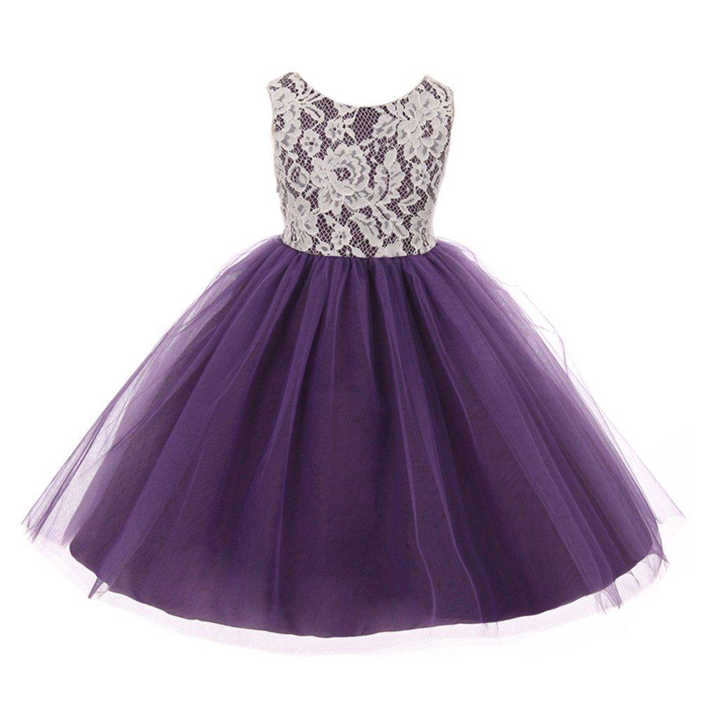 Little Girls Purple Dresses