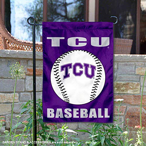 Texas Christian Horned Frogs Baseball Garden Flag and Yard Banner
