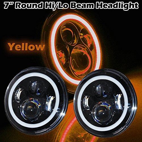 yellow 7 inch headlight - 8