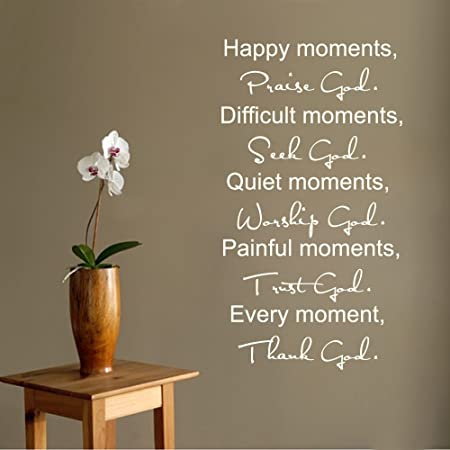 happy moments wall sticker praise god decal christian quote
