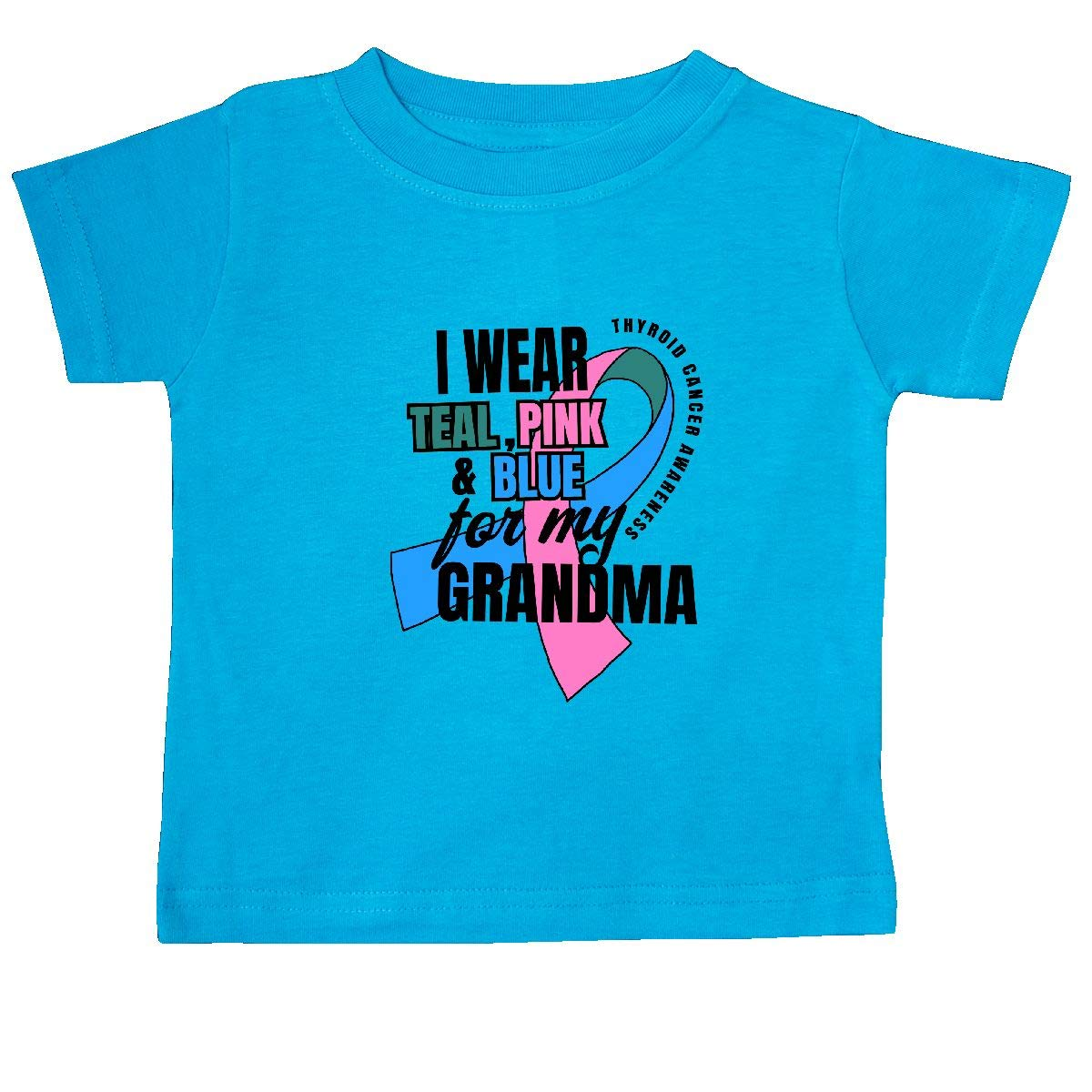 inktastic I Wear Teal Pink and Blue for My Grandma Baby T-Shirt