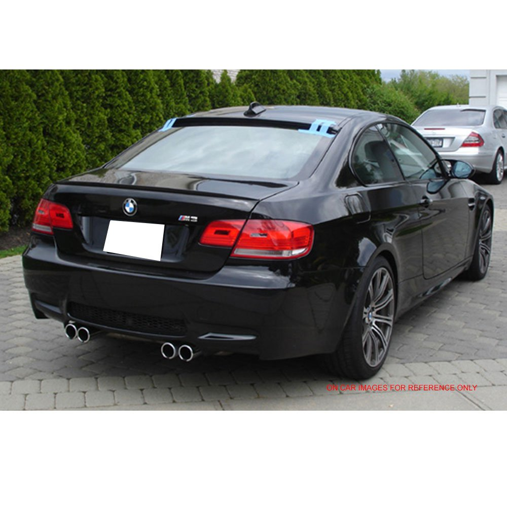 2008 2009 2010 2011 AC Style Painted #A08 Sterling Silver Metallic ABS Other Color Available Rear Trunk Tail Spoiler Wing by IKON MOTORSPORTS Roof Spoiler Fits 2007-2013 BMW 3 Series E92 2Dr Coupe