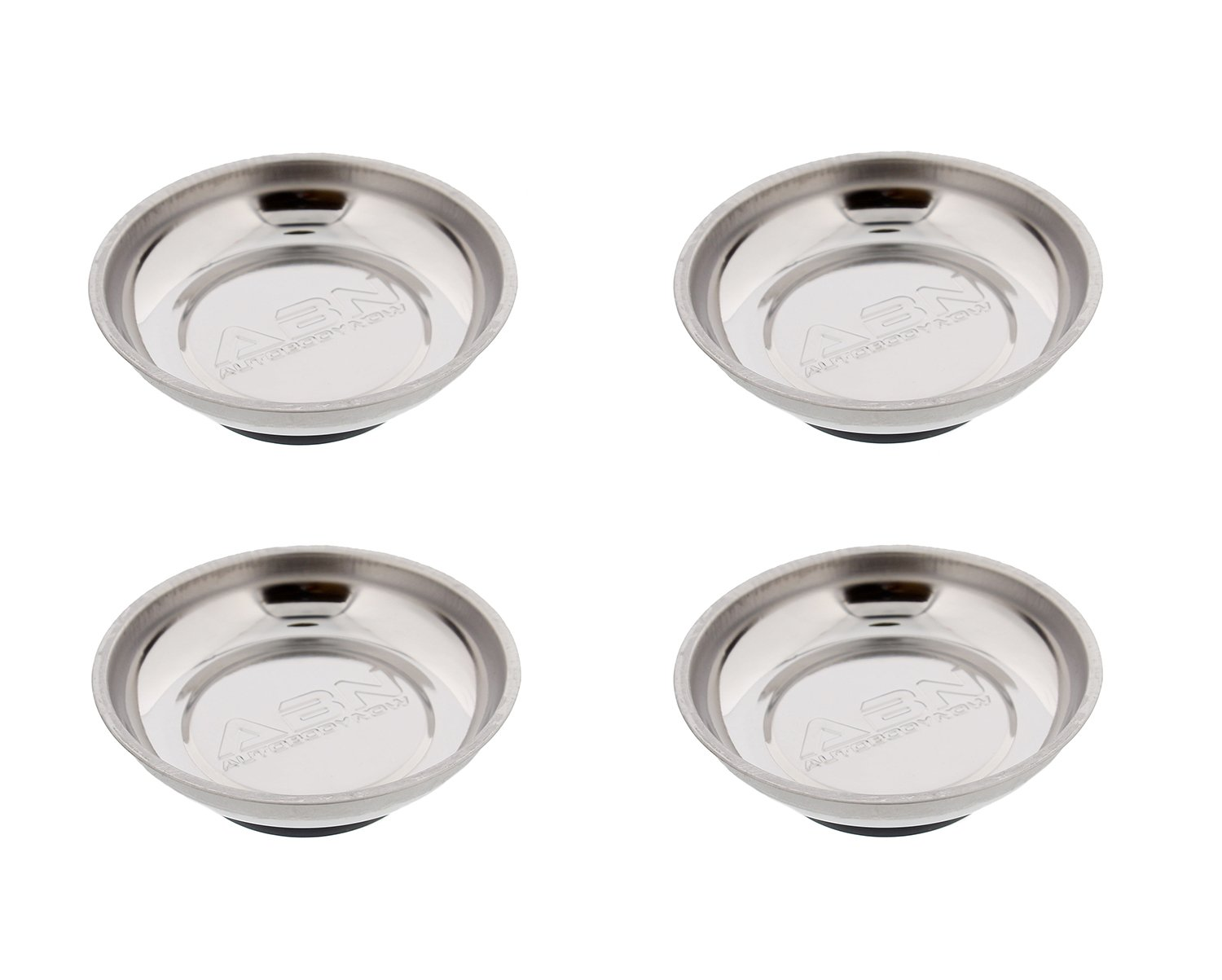 "6 x 4"" Magnetic Parts Tray Dish Storage Holder Circular Round Nuts Bolts Fixings"