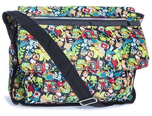 Big Handbag Shop - Bolsa unisex Messenger 626A - Green Scene