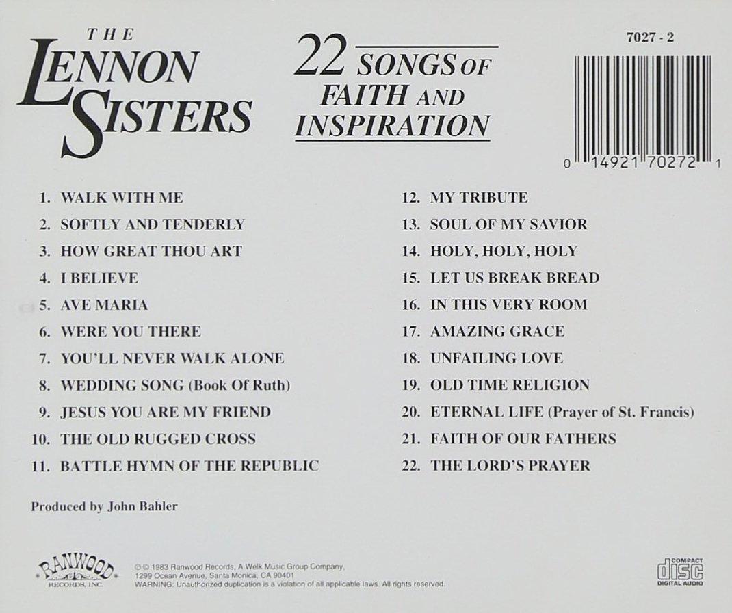 Lennon Sisters - 22 Songs Of Faith & Inspiration - Amazon.com Music