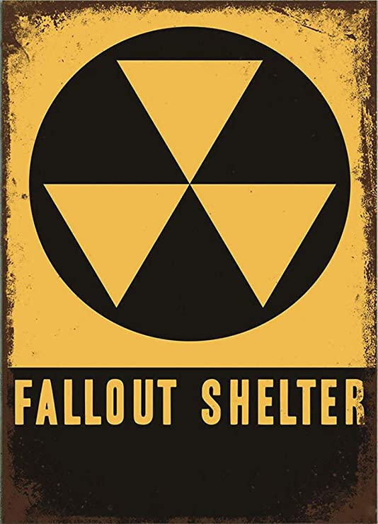 Froy Fallout Shelter Pared Cartel de Chapa Retro Hierro ...