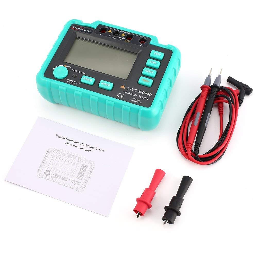 VC60B+ 1000V Digital Insulation Resistance Meter Tester Megohmmeter ...