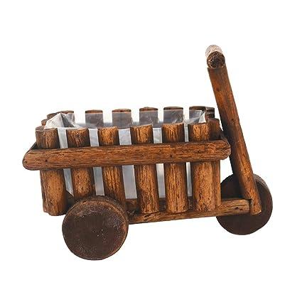 Amazon.com: Macetero de madera para decoración de jardín con ...