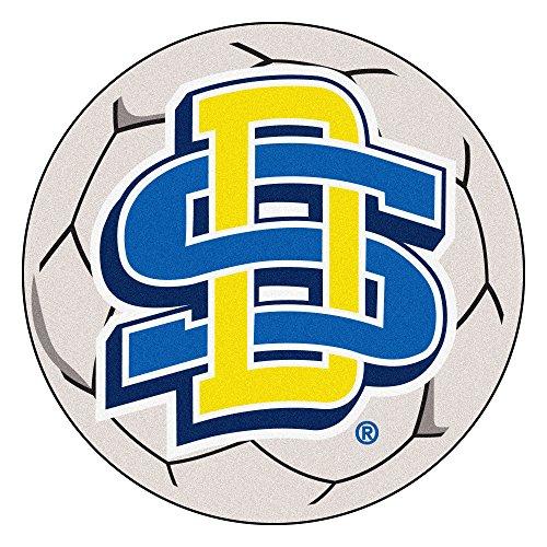 (NCAA South Dakota State University Jackrabbits Soccer Ball Mat Round Area Rug)