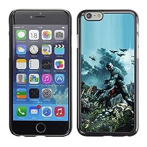 EJOY---Cubierta de la caja de protección la piel dura para el / iPhone 6 / --Crisis Futuro Guerra Soldado