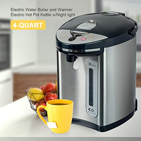 Amazon.com: Secura Electric Water Boiler and Warmer 4-Quart Electric ...