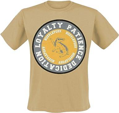 Camiseta de Harry Potter para Hombre Valores de Hufflepuff Algodón Amarillo: Amazon.es: Ropa y accesorios