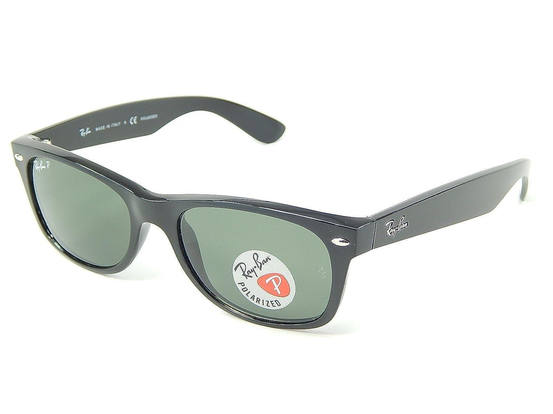 7fc4bcb61 Amazon.com: RAY BAN NEW WAYFARER 2132 BLACK FRAME NATURAL GREEN POLARIZED RB2132  901/58 52MM: Shoes