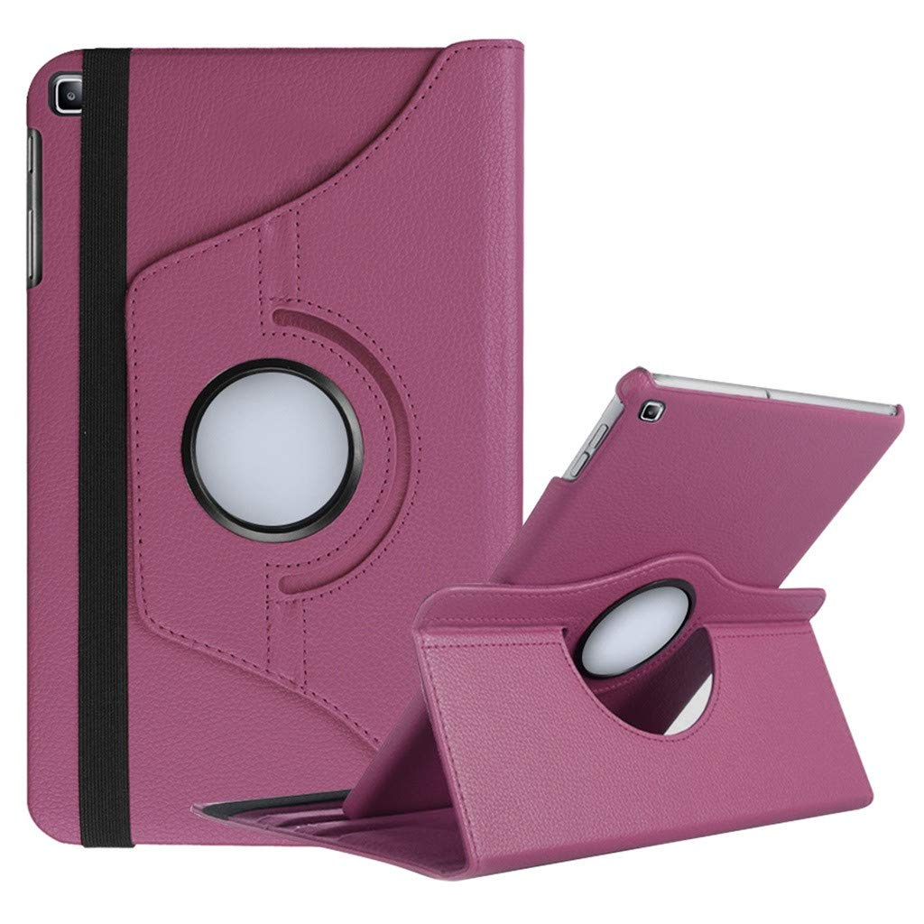 PBudiYr Tablet Cover Protective Case,Rotating Case with Auto Sleep/Wake Cover for Samsung Galaxy Tab A T510 T515 10.1 (BK)