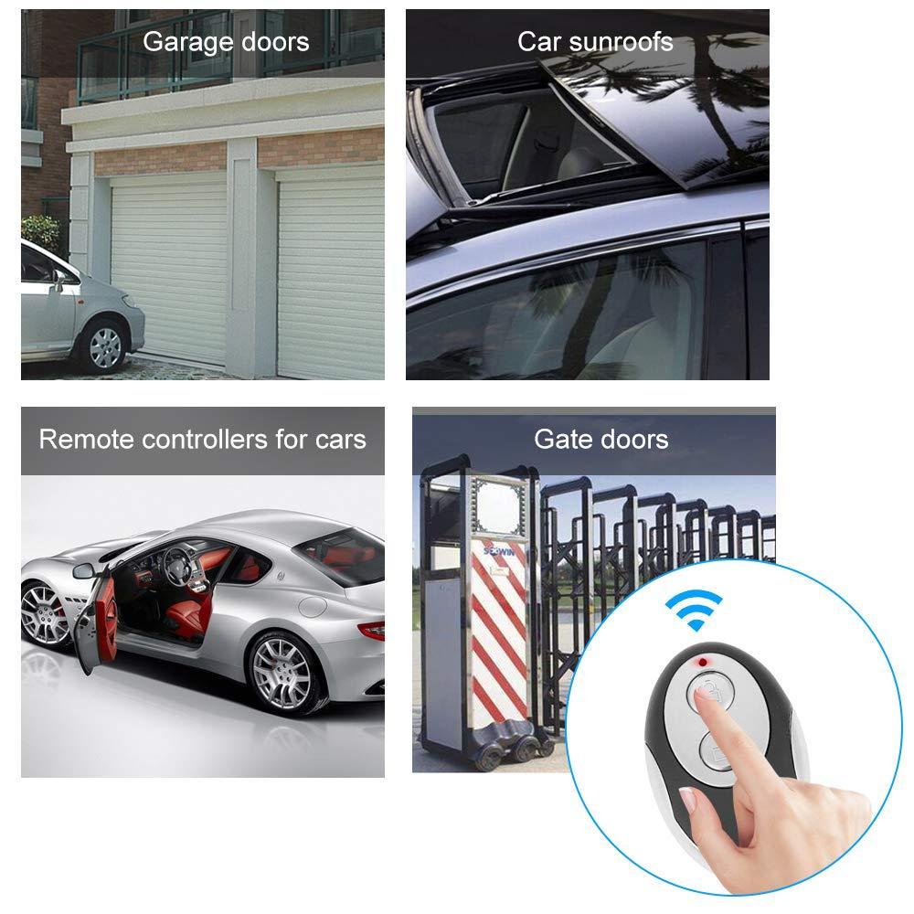 Wireless remote control duplicator for Garage Gate Door Remote Control Festnight 433Mhz Wireless RF Switch Long Range Wireless Remote Control Switch