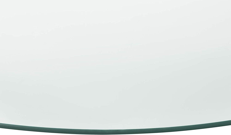 Glasplatte /Ø60cm Rund Glasscheibe Tischplatte ESG Glas Kaminplatte Kaminglas DIY Tisch neu.haus