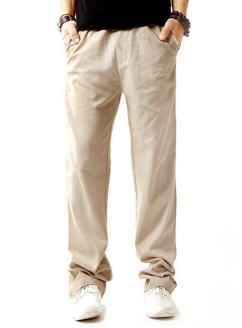 NITAGUT Men's Drawstring Linen Pant