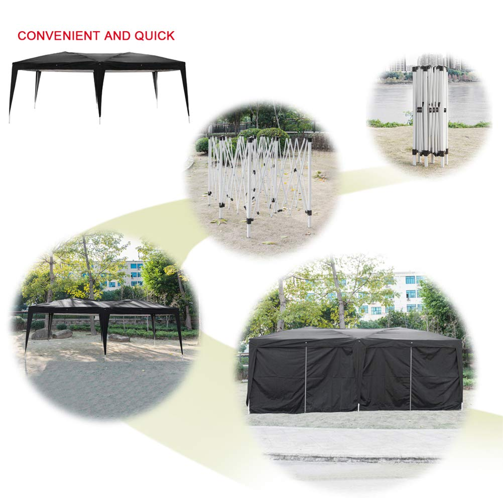 Blacgic Folding Tent Protable Instant Wedding Party Gazebo Pavilion with 6 Removable Sidewalls by Blacgic (Image #6)