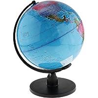 Baoblaze Large Swivel Spining World Globe Model School Educational Teaching Kits Children Leaning Toys - Blue, 25cm
