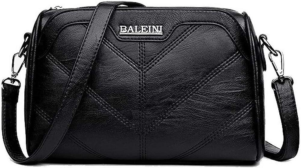 AmoonyFashion Womens Bags Casual Satchel-Style PU Crossbody Bags,BUTBT181659