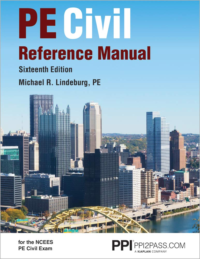 PE Civil Reference Manual by PPI, A Kaplan Company