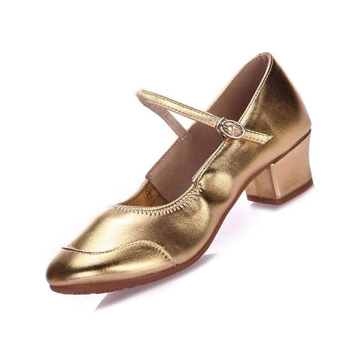Ballsaal Tanzschuhe Salsa Sandalen Latin Dance /Übungsschuh Damen Tanzender Rumba Waltz Prom Schuh Farbe : Gold, gr/ö/ße : 34