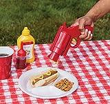 The Paragon Condiment Dispenser - Funny Ketchup & Mustard Plastic Condiment Bottle Gun