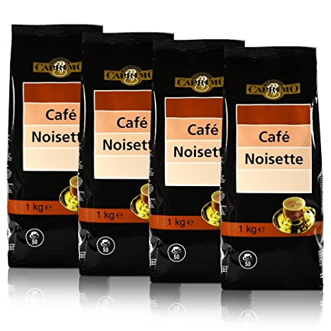 4 x caprimo Café Bebidas Noisette capuchino Cacao en Polvo 1 kg – Aroma tisiertes Instant