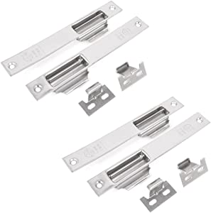 "4PCS Security Stainless Steel 7.2"" Long Sliding Window Lock Latch"