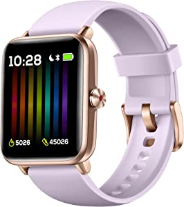 Hamile Smart Watch for Android Phones Compatible with iPhone, Fitness Watch with Heart Rate Monitor, Blood Oxygen Saturation, 1.55
