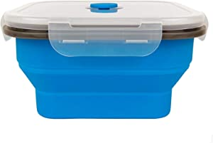 CCyanzi 1200ml Large Collapsible Container Silicone Camping Food Container Silicone Travel Bowl, 6.7inches