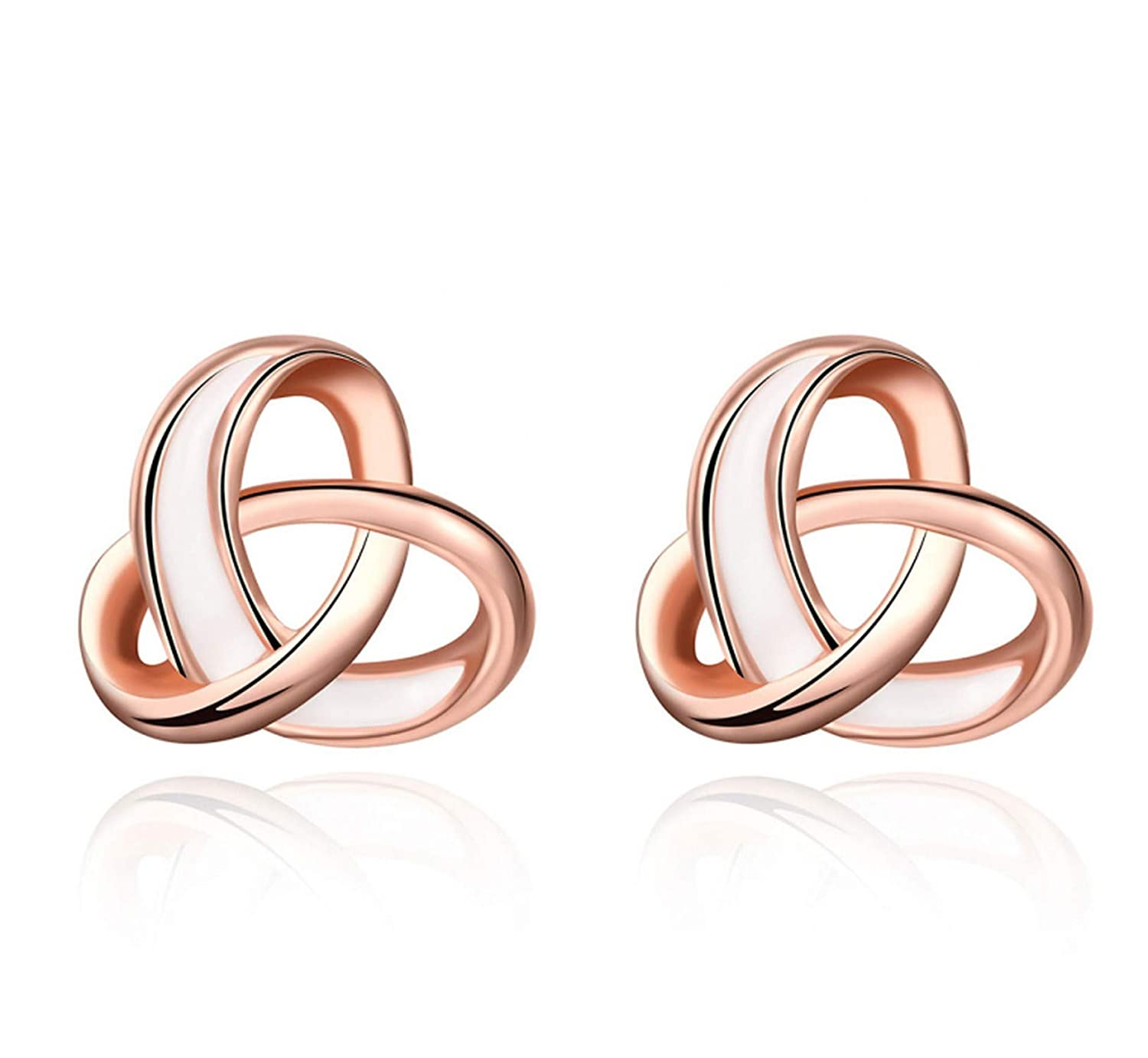 Fashion Jewelry Earing For Women Rose Gold Color Charming Design Stud Earrings