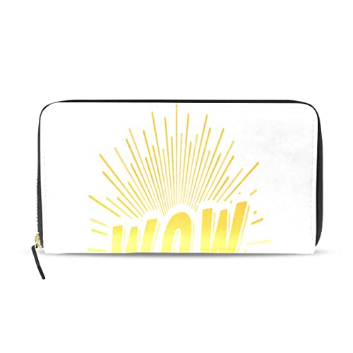 Wow suspiro Lable Pop Art Pasaporte largo Embrague Monederos ...