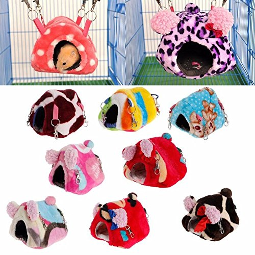 Cute Small Animal Pet Rabbit Hamster House Bed Rat Winter Warm Hanging Cage Nest