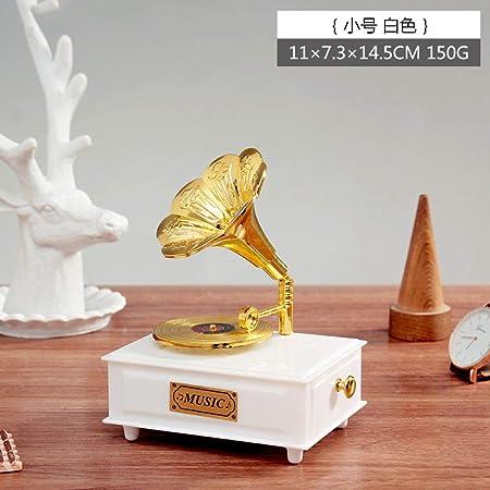 Retro tocadiscos europeo fonógrafo caja de música caja de ...