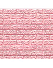Happytoys 70x77cm PE Foam 3D Wall Stickers Safty Home Decor Wallpaper Sticker,pink