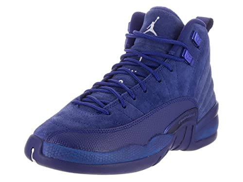 hot sale online 4f92d 9256a Nike Jordan Kids Air Jordan 12 Retro Bg Deep Royal Blue/White Metallic  Basketball Shoe 4 Kids US: Amazon.in: Shoes & Handbags
