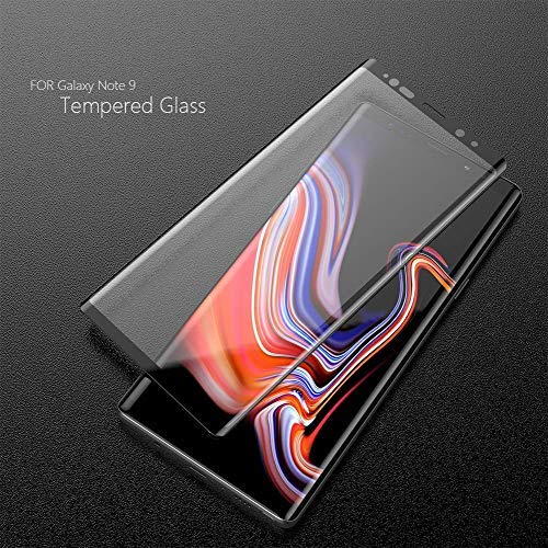 KNOWAIR [2 Pack] Galaxy Note9 Screen Protector Tempered Glass, [Update  Version] 3D Curved Dot Matrix [Full Screen Coverage] Glass Screen Protector