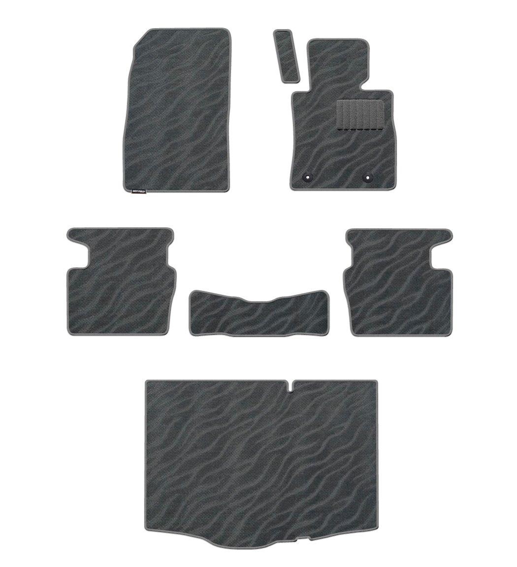 Hotfield マツダ デミオ DJ系 フロアマット&トランクマット WAVEグレー 前席マット:標準タイプ(純正仕様)フルタイム 4WD B01CXNRFMC 前席マット:標準タイプ(純正仕様)フルタイム 4WD|WAVEグレー WAVEグレー 前席マット:標準タイプ(純正仕様)フルタイム 4WD