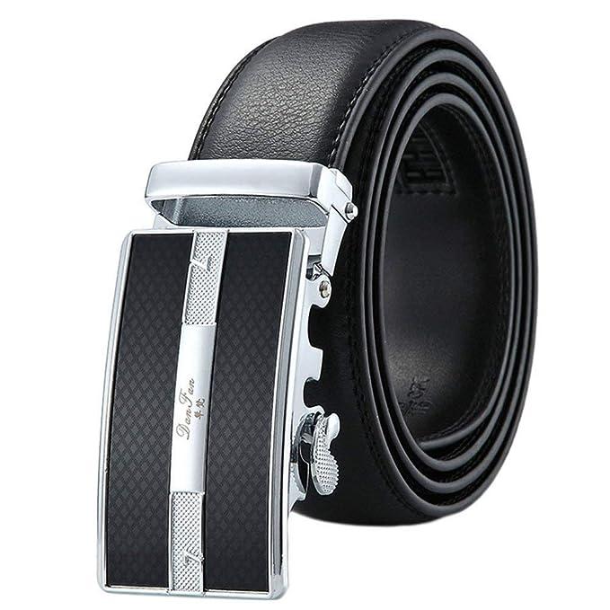 Cinturón De Cuero Para Hombre Cinturón De Hebilla De ...