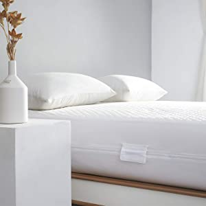 Twin Waterproof Bamboo Mattress Protector Zippered-360 Top Removable Mattress Encasement-Cooling Bed Bug Mattress Cover 10-13'' Deep-Hypoallergenic