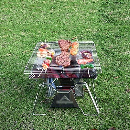 Barbecues à Charbon Maison Jardin En Acier Inoxydable Pliable Portable Grill Cuisine Barbecue À Charbon Camping BBQ Grill pour Extérieur Extérieur Barbecues (Taille : A)