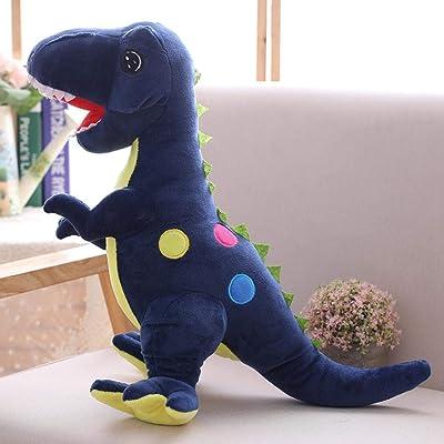 Muñeca De Felpa De Dinosaurio Realista, Peluche De Dinosaurio Suave Relleno, Regalo De Cumpleaños De La Colección Dino Huggable para Niños Azul, 40 Cm: Juguetes y juegos