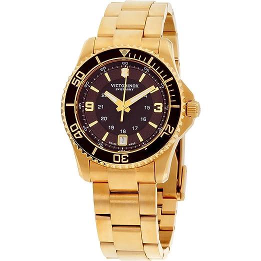 Victorinox 241614 - Reloj para Mujeres, Correa de Acero Inoxidable Color Dorado